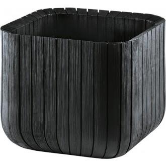 Květináče a truhlíky - KETER Květináč Small Wood Look Planter Grey