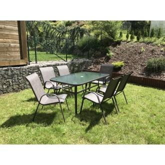 Zahradní nábytek - Zahradní nábytek BOHOL Mix Brown 6 + 1