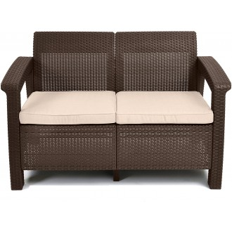 Zahradní nábytek - Zahradní pohovka KETER Corfu Love Seat Sofa - Brown