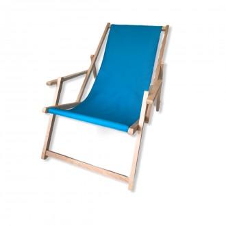 Zahradní nábytek - Zahradní lehátko klasik s područkou - světlé modré