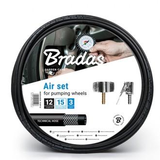 Auto-moto - Komplet sada na huštění pneumatik Bradas 12 m