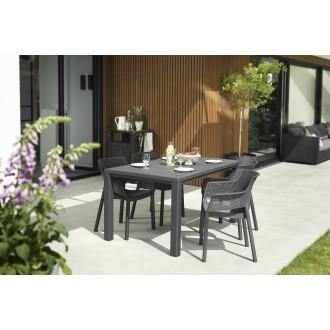 Zahradní nábytek - Zahradní jídelní set KETER Elisa/Julie 4+1 Graphite