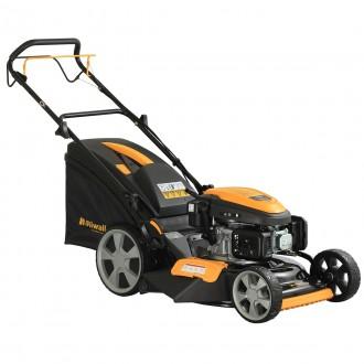 Zahradní technika - Riwall PRO RPM 4640 PRO multifunkční travní sekačka 4 v 1 s benzinovým motorem a pojezdem