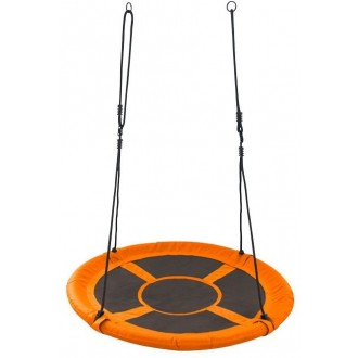 Sport a zábava - Dětská houpačka - čapí hnízdo, kulatá oranžová GR0228
