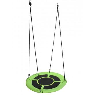 Sport a zábava - Dětská houpačka - čapí hnízdo, kulatá zelená GR0128