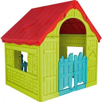 Zahradní domky - Dětský domek Keter Foldable Playhouse - zelený