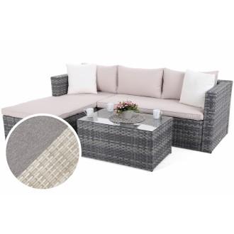 Zahradní nábytek - Rohová sedací souprava z technoratanu AMALFI Beige / Beige Melange