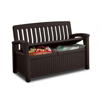 Zahradní nábytek - Zahradní lavice Keter Patio Brown 227 L