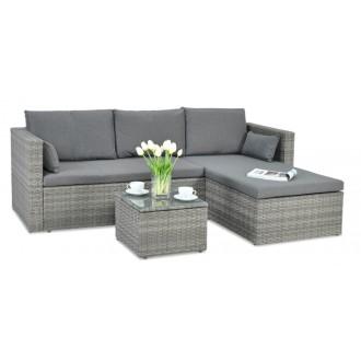 Zahradní nábytek - Rohová sedací souprava LIZBONA z technoratanu - Grey