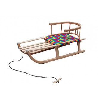 Sport a zábava - Dětské dřevěné sáňky s opěrkou DAN-DREW