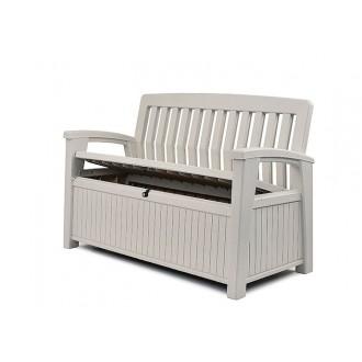 Zahradní nábytek - Zahradní lavice Keter Patio White 227 L