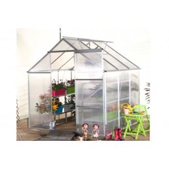 Skleníky - Zahradní polykarbonátový skleník 190x190cm