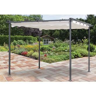 Párty stany - altány - Zahradní altán 3x3m Master Grill se shrnovací střechou