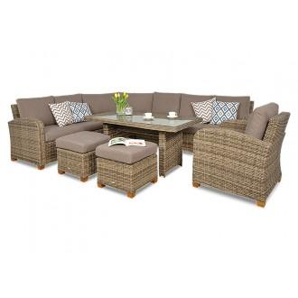 Zahradní nábytek - Luxusní sedací souprava Madera Plus Brown Maxi
