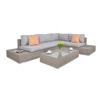 Zahradní nábytek - Velká rohová sedací souprava Verona Light Grey