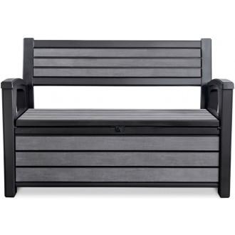 Zahradní nábytek - Zahradní lavice Keter Hudson Storage 227l - graphite