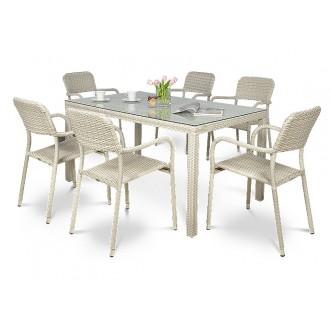 Zahradní nábytek - Zahradní nábytek Optima/Torino 6+1 Modern White - 2. JAKOST