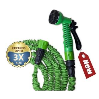 Zavlažování - Komplet flexibilní zahradní hadice TRICK HOSE 5-15m - zelená