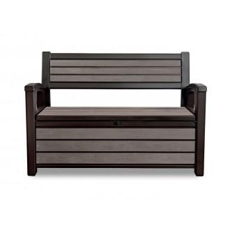 Zahradní nábytek - Zahradní lavice Keter Hudson Storage 227l - Brown