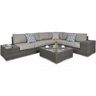 Zahradní nábytek - Rohový zahradní set AVOCADO Dark Grey
