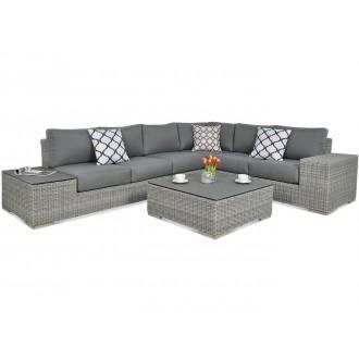 Zahradní nábytek - Rohový zahradní set AVOCADO Stone Grey
