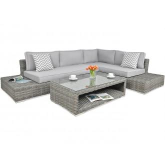 Zahradní nábytek - Rohový zahradní set VERONA Premium Modern Grey