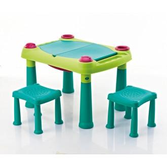Sport a zábava - Dětský hrací stolek Keter Creative Play Table + 2 židličky