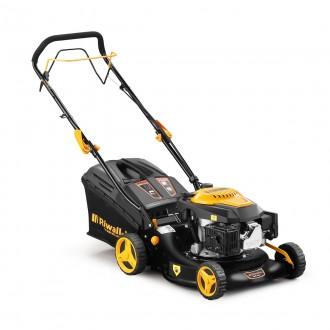 Zahradní technika - Riwall PRO RPM 4235 - Multifunkční travní sekačka 3 v 1 s benzínovým motorem a pojezdem