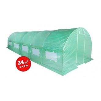 Fóliovníky - Zahradní fóliovník zelený 3x8m