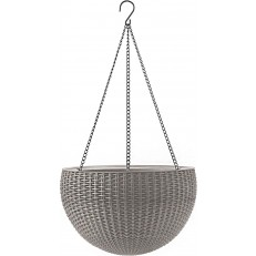 Závěsný květináč KETER Hanging Sphere - Sand Grey