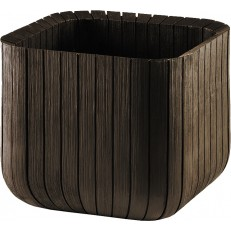 KETER Květináč Small Wood Look Planter Brown