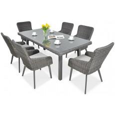 Zahradní technoratanový nábytek MILANO 6/200 Dark Grey
