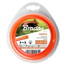 Žací struna BRADAS Trimmer 2,0 mm x 15 m čtvercová