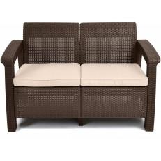 Zahradní pohovka KETER Corfu Love Seat Sofa - Brown