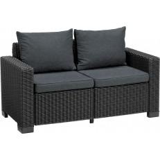 Dvoumístná zahradní pohovka KETER California Sofa - Graphite + coolgrey