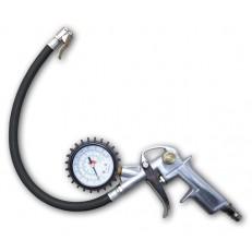 Pistole na huštění pneu s manometrem - kovové madlo