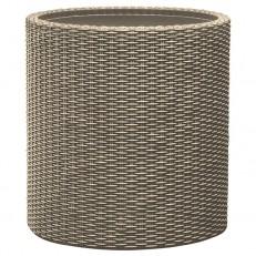 KETER Květináč Cylinder Planter L Silver grey