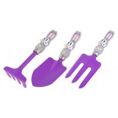 Sada dětského nářadí s králíčkem GR0135 - fialová