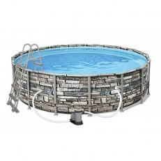 Bazén Power Steel Stone 4,88 x 1,22 m - 56966