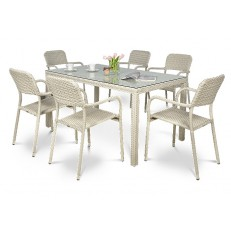 Zahradní nábytek Optima/Torino 6+1 Modern White