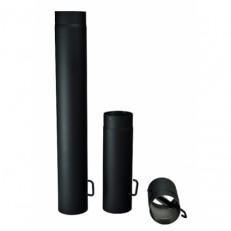 Roura kouřová silnostěnná s klapkou 120mm / 250mm / 1,5mm