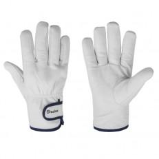 Ochranné kožené rukavice Bradas Whitebird/ kozinka - 9,5