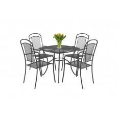 Zahradní jídelní set VENEZIA Square 4+1 Grey