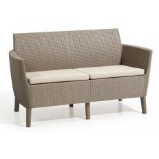 Dvoumístná zahradní pohovka KETER Salemo 2 Seater Sofa - Cappuccino