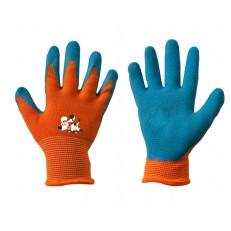 Dětské latexové ochranné rukavice Bradas ORANGE, vel. 5