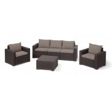 Zahradní nábytek KETER California 3-Seater Set - Brown + Warm Taupe