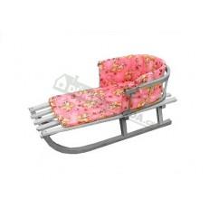 Podložka pro dětské sáňky - růžová
