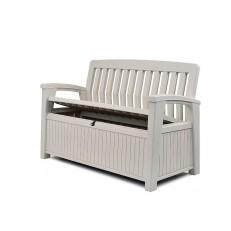 Zahradní lavice Keter Patio White 227 L