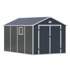 Zahradní domek G21 PAH 882 - 241 x 366 cm, plastový - šedý