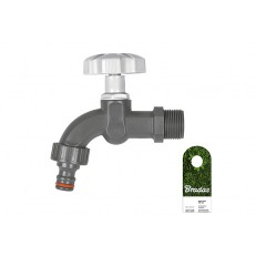 """Vodovodní kohout plastový BRADAS 3/4"""" s přípojkou pro rychlospojku"""